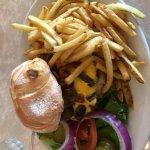 Burger and fries yummo!!