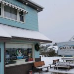 You gotta love Wally's: it's cold outside, there is snow on the ground, and they're open.