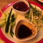 badly cut veg for the Peking Duck dish that TGI call it fajitas