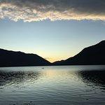 Kayaker on Lake Crescent