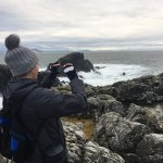 On a Star Wars movie tour at Malin Head, Donegal, which is one of the Last Jedi film locations i