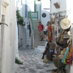 One of Naoussa's pretty streets