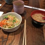 standard starter - salad and miso soup