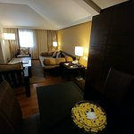lounge area of deluxe suite