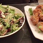 Salad and fried oysters