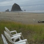 View of Haystack Rock from the Surfsand Resort
