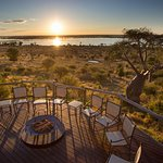 Ngoma deck overlooking sunset in Botswana