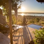 My private balcony and hot tub sized pool, over looking Chobe River at Ngoma.