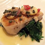 Chilean Sea Bass with Lemon Caper Butter & Spinach