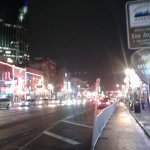 Broadway at night in The District--country culture at its best in Nashville
