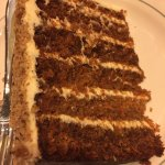 carrot cake--yes it's as huge as it appears!