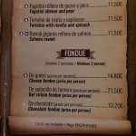 You can get bef, beff and even beet. The cheese fondue is best avoided though.
