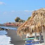 Perissa black beach perfect to relax