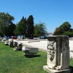 Fragment pozostałości rzymskich budowli