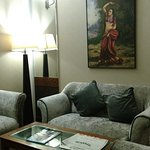 Comfortable and cosy sitting room attached to the main sleeping room in the suite