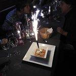 Un dessert surprise pour un anniversaire.....