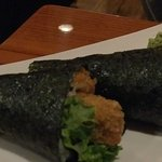 Fried oyster handroll
