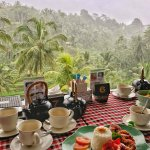 Lunch with a view at Terrace Padi cafe in Bali