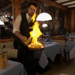 Flambe is their specialty