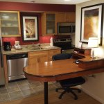 Kitchen and Dining/Work Area