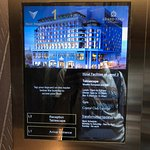 Elevator controls. Auto detects the floor based on your key card.