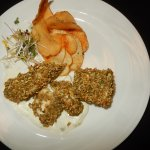 Kettle chips, pistachio & cornflakes encrusted Fish, candied Lemon Tartar sauce