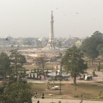 view from one of the chambers - Minar e Pakistan