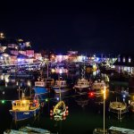 The harbour looking all festive