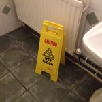 Health and safety sign , they defiantly needed that !