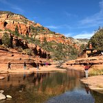 "Slide rock by OakCreek canyon is a ""must go"". It's beautiful and incredible short hike if you li"