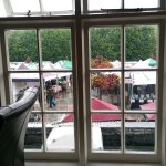 The view from the dining room on to the market square - nice