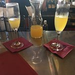 Bottomless Mimosas! Yes, please! Great brunch items on the menu. Quaint feel ambiance.
