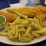 This is my meal I had today. Note the jumbo haddock was two small and odd pieces of tasteless wh
