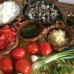 Our mise en place for the Huitlacoche Sopes. Beautiful!