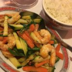 Shrimps with rice