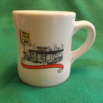 Detail of coffee mug -- a worthy souvenir of your visit.