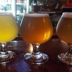 Three tasty house beers