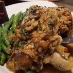 Chicken & Rice Pilaf w/veggies.