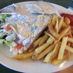 Tom's Gyro with fries.