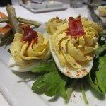 The delicious deviled eggs