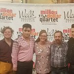 Lisa and I with the cast members of Million Dollar Quartet Show in Branson