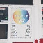 Shaved ice menu
