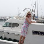 The marina at Port Banus, there was a sea mist.