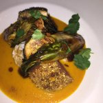 Ahi tuna in curry sauce