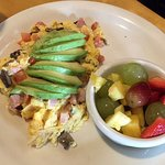 Build Your Own Egg Scramble with Ham, Avocado, Mushrooms