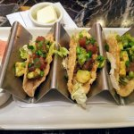 Ahi Tuna taco's appetizer! Tasty, refreshingly fresh sashimi grade tuna...YUM!
