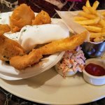 Fish & Chips served with cole slaw! Always a favorite amongs diners!