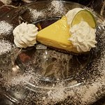 Impressive Key Lime Pie that came on this massive plate worth celebrating the holidays with! TAS