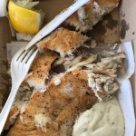 Takeaway lunch: grilled barramundi and tartare sauce