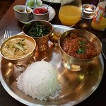 A lovely Nepalese combination platter